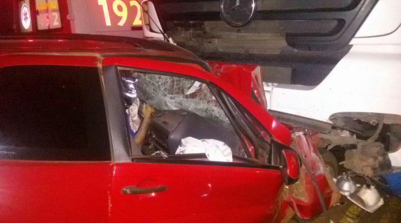 Acidente com vítima fatal na BR 468 em Palmeira das Missões
