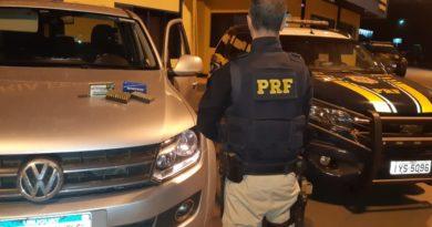 PRF apreende 100 munições com uruguaios na BR 386 em Sarandi