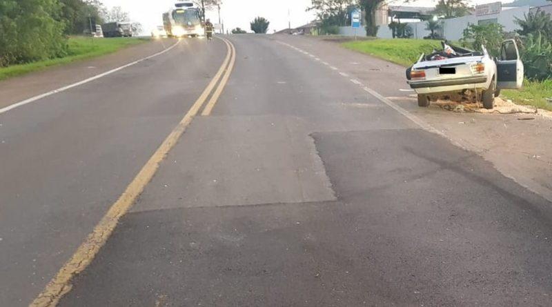Homem é preso após acidente com duas mortes na BR-386, em Marques de Souza